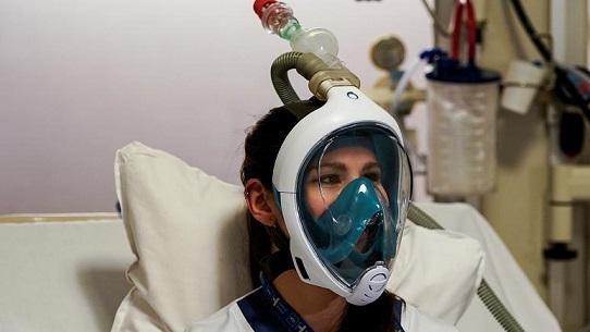استفاده از ماسک غواصی در بیمارستان های اروپایی (