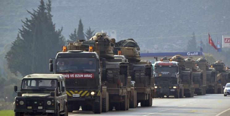 کاروان ارتش ترکیه وارد استان ادلب سوریه شد