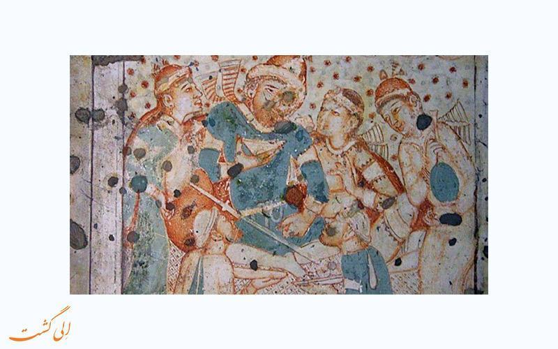 کشف تصویر خسرو پرویز بر روی دیواره غاری در هند
