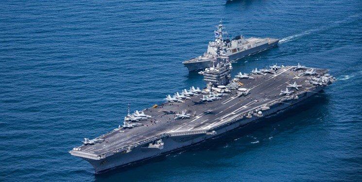 ناوهای هواپیمابر آمریکا در آب های چین مستقر شدند