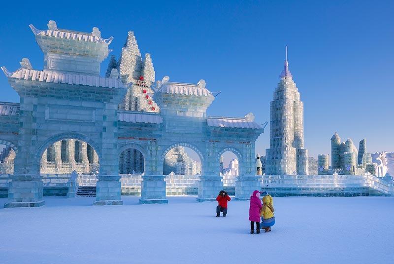 فستیوال یخ و برف هاربین؛ عظیم ترین جشنواره آثار یخی چین، عکس