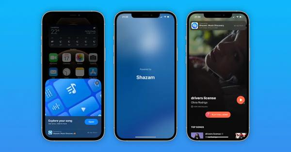 برنامه تشخیص موسیقی شازم در iOS 14.6 با اپلیکیشن App Clip ادغام شد