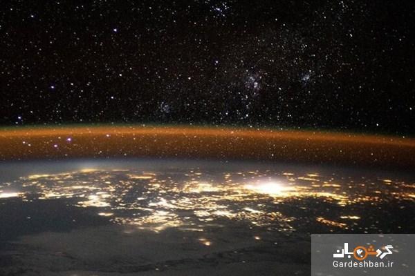تصویری زیبا از زمین از منظر ایستگاه فضایی بین المللی